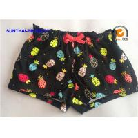 Quality Reactive Print Ruffle Waistband Baby Girl Cotton Shorts Color Customized wholesale
