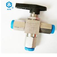 Quality Manual Operating Stainless Steel Ball Valve Three Way With Npt Female Thread wholesale