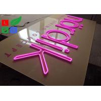 Quality Pink Led Neon Light Signs Flex Signage With Clear Backing For Shop, Bars and Company Wall Branding wholesale
