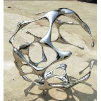 Quality Contemporary Outdoor Garden Ornaments Stainless Steel Sculpture For Public Decoration wholesale