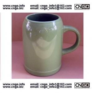 Quality wholesale green beer mug ceramic beer mug custom colors LOGO 500ML beer mug wholesale