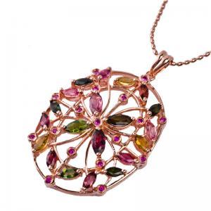 Quality Elegant designs and excellent finishingcrystal silver gemstone pendant K-BC-C876 wholesale