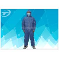 Quality Disposable Protective Clothing Non - Woven Disposable Coveralls With Hood wholesale
