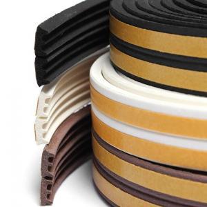 Quality Flexible medium density sponge silicone rubber flat seal strip wholesale