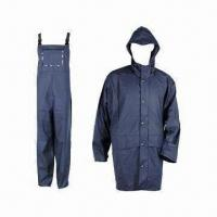 Quality Adult PU Raincoat, 5000mm WP, Made of 50% PU and 50% Polyester wholesale