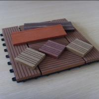 China Anti - Skid / Anti - Corrosion WPC Deck Tiles With Engineered Flooring Type on sale