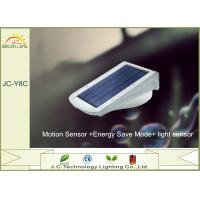 Quality Rechargeable Motion Sensor IP65 Solar LED Wall Light With 6-12m Distance wholesale