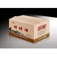 Quality CMYK Pantone Color Wine Packaging Boxes Printing , D-Flute Corrugated Box Printing wholesale