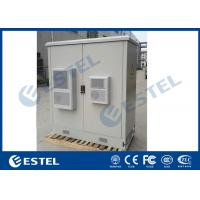 China Two Bay Outdoor Equipment Cabinet IP55 Floor Mounting Air Conditioning System on sale