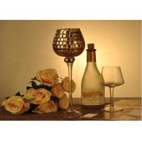 Quality Stemware Mosica Vintage Glass Candle Holders For Wedding Eco Friendly wholesale