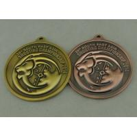 China Antique Brass Zinc Alloy Shooting Medals Die Cast With 3D on sale
