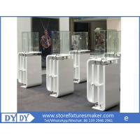 Quality Oem manufacturing good price wooden glass white color perspex display stands with locks wholesale