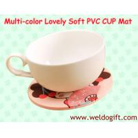 China Lovely Soft PVC Coffee Cup Mat for Promotion Gifts on sale