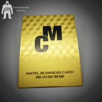 Buy cheap Gold Membership VIP Metal Business Card VIP Card Made By Stainless Steel CR80 from wholesalers