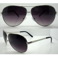 Quality Fashion Black Round Metal Frame Sunglasses , Reflective Sun Glasses wholesale