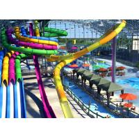China Multi Color Spiral Water Slide With Attractive Commercial Rafting Slide on sale