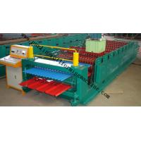 Quality Corrugated Double Layer Roll Forming Machine , Wave Galvanized Roof Sheet Cold Roll Former wholesale