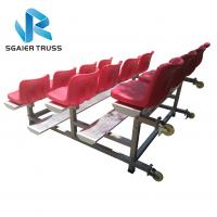 China Strong Convenient Aluminum Stadium Bleachers With Wheels Easy To Assemble on sale