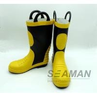 Quality Steel Toe Fireman Rubber Boots Fire Fighter