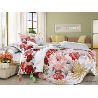 Quality Polyester Cotton Blend 4 Piece Bedding Set Embroidered Flower Printed wholesale