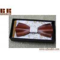 China Beautiful Neckwear Creative 3D Handmade Butterfly Wood Bowties on sale