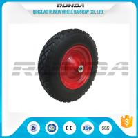 Quality Anti Slip Foam Filled Wheelbarrow Tires 20mm Inner Hole Steel Rim Smooth Bearing wholesale