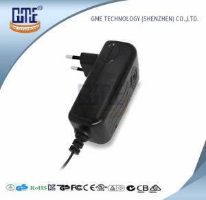 Quality CCTV Cameras EU Plug Power Adapter AC DC  Black 90V - 264V AC Input Voltage wholesale