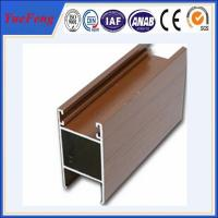 China high quality imitated wooden aluminum extrusion profile for doors and windows on sale