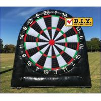 Buy cheap Rental Inflatable Sports Equipment Football Game Giant Inflatable Dart Board from wholesalers