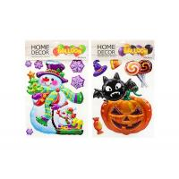 China Pumpkin Kids Sticker Printing , Custom Embossed Stickers Home Decoration on sale