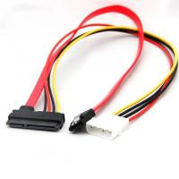 China Molex 20cm / 30cm / 50cm SATA Combo 15 Pin Power and 7 Pin Data Cable 4 Pin Molex to Serial ATA Lead cable on sale