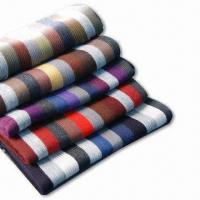 China Multicolor Knitted Scarves, Made of Acrylic, Suitable for Men on sale