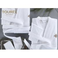 Quality Basic Hooded Hotel Quality Bathrobes Luxury Hooded White Terry Velour Shawl Robe wholesale