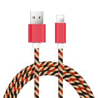 Quality IPhone 8 / 8plus / X USB Data Cable With Camouflage Nylon Woven Braided wholesale