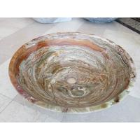 Quality Tiger Onyx Green Kitchen Bathroom Sinks Vessel Washbasins None Overflow wholesale
