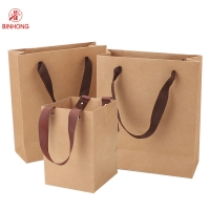 China Custom Sizes Twisted Handle ODM Kraft Paper Bag on sale