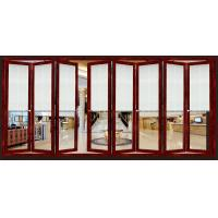 Buy cheap Aluminum Interior Folding Glass Door 2.0mm Thickness Finish Surface from wholesalers