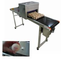 China Remote Control Eggs Code Printing Machine With Full Plate Spray Printing Way on sale