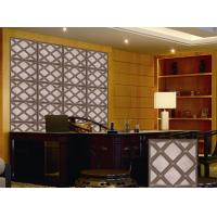 Quality Leather Home Decor Wallpapers Home Decoration Accessories , Customized 3D Wall Panel wholesale