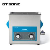 Quality Laboratory Industrial Ultrasonic Cleaner SUS304 6L 40kHz 150W With Drain Valve wholesale