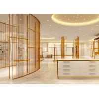Cheap Luxury Stainless Steel Store Display Fixtures For Women Clothing Shop for sale