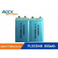 Quality 553048 pl553048 3.7v 800mah lithium polymer rechargeable battery for portable pinter wholesale