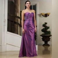 Quality Bridesmaid Dress with Lace-up Back, Made of Taffeta wholesale