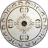 Quality Round Mosaic Marble Floor Medallions Polished Solid Surface Sgs Standard wholesale