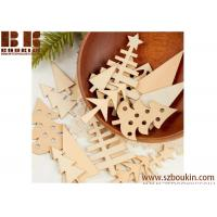China Unfinished Natural  Wood Tree Cutouts Christmas Tree Decoration on sale