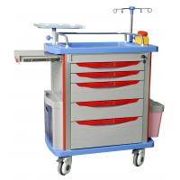 Quality Hospital Emergency Trolley Luxurious ABS Plastic Drawer Cart With Wheels Drug Delivery Cart wholesale
