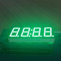 Quality Pure Green 4 Digit 7 Segment Led clock Display 0.56 Inch  common anode For Instrument Panel wholesale