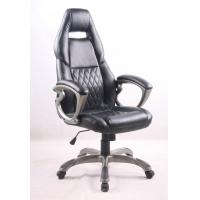 Quality Black PU Porsche Racing Office Chair with Painting Armrest Executive Leather Office Chair wholesale