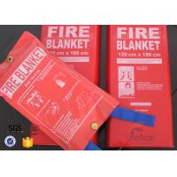 Buy cheap 1x1m 0.4mm White Fiberglass Kitchen Industrial Emergency Fire Blanket product