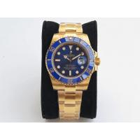 Buy cheap Rolex Submariner 116618 Full 18K Yellow Gold Wrapped Ceramic Bezel Blue Dail VRF from wholesalers